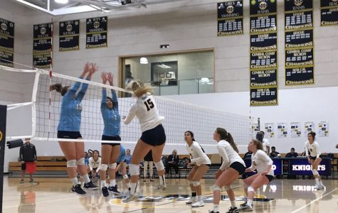 Volleyball stays undefeated in league with senior night sweep