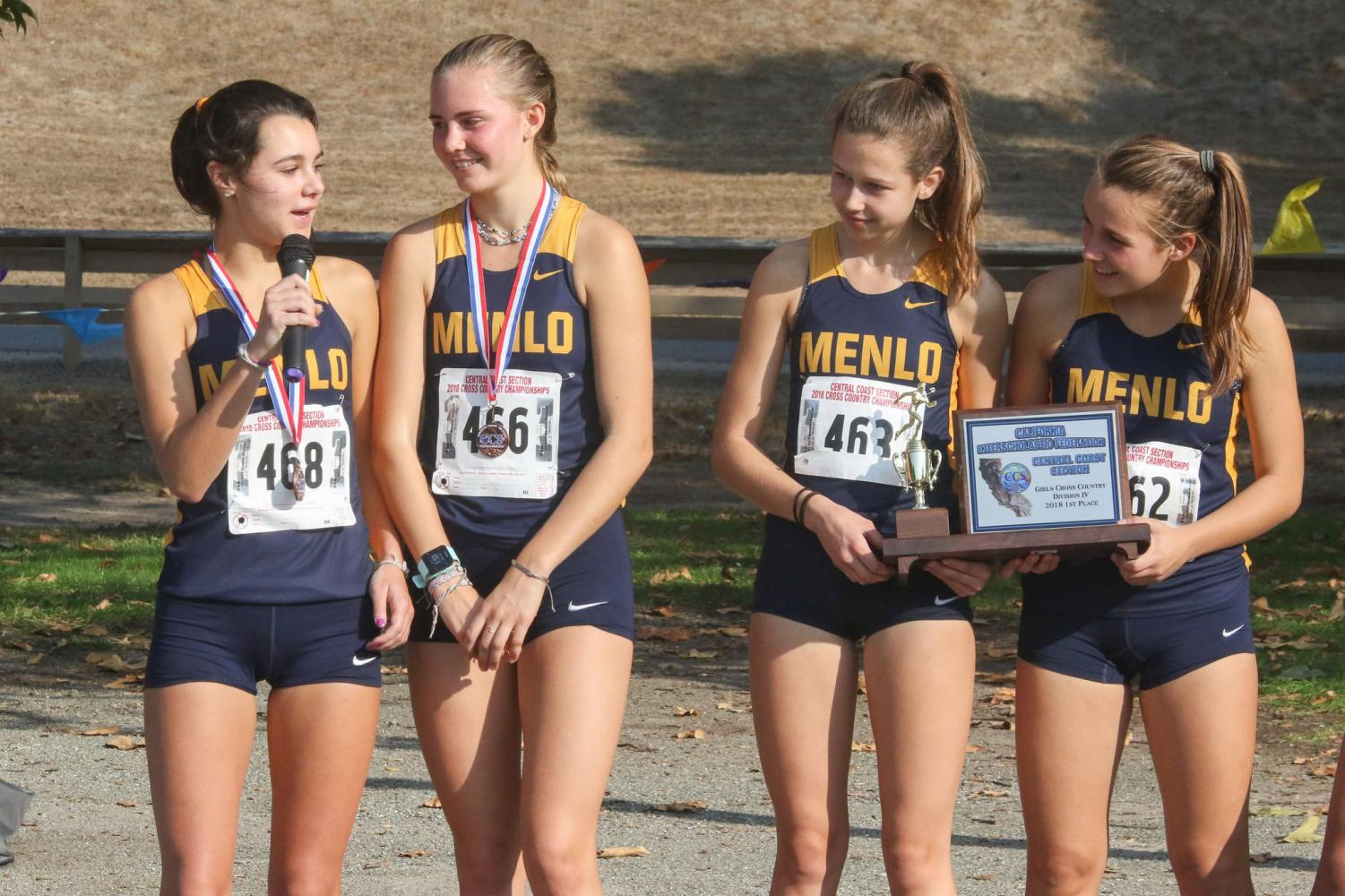 Girls cross country pictured after their CCS win on Saturday, Nov. 18. Photo courtesy of Pam Tso  McKenny.