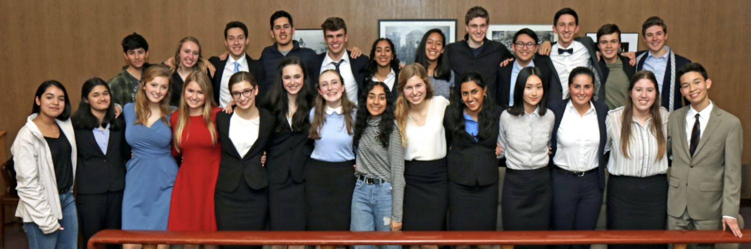 The Menlo Mock Trial team poses for a photo. Photo courtesy of Dicky Yan.