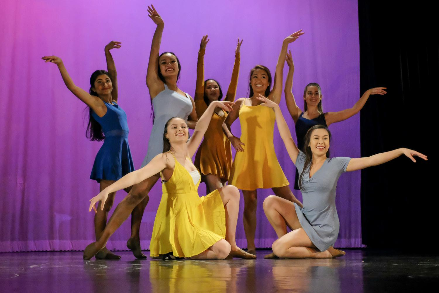 Menlo Knight Dancers pose after a dance. Photo courtesy of Pete Zivkov.