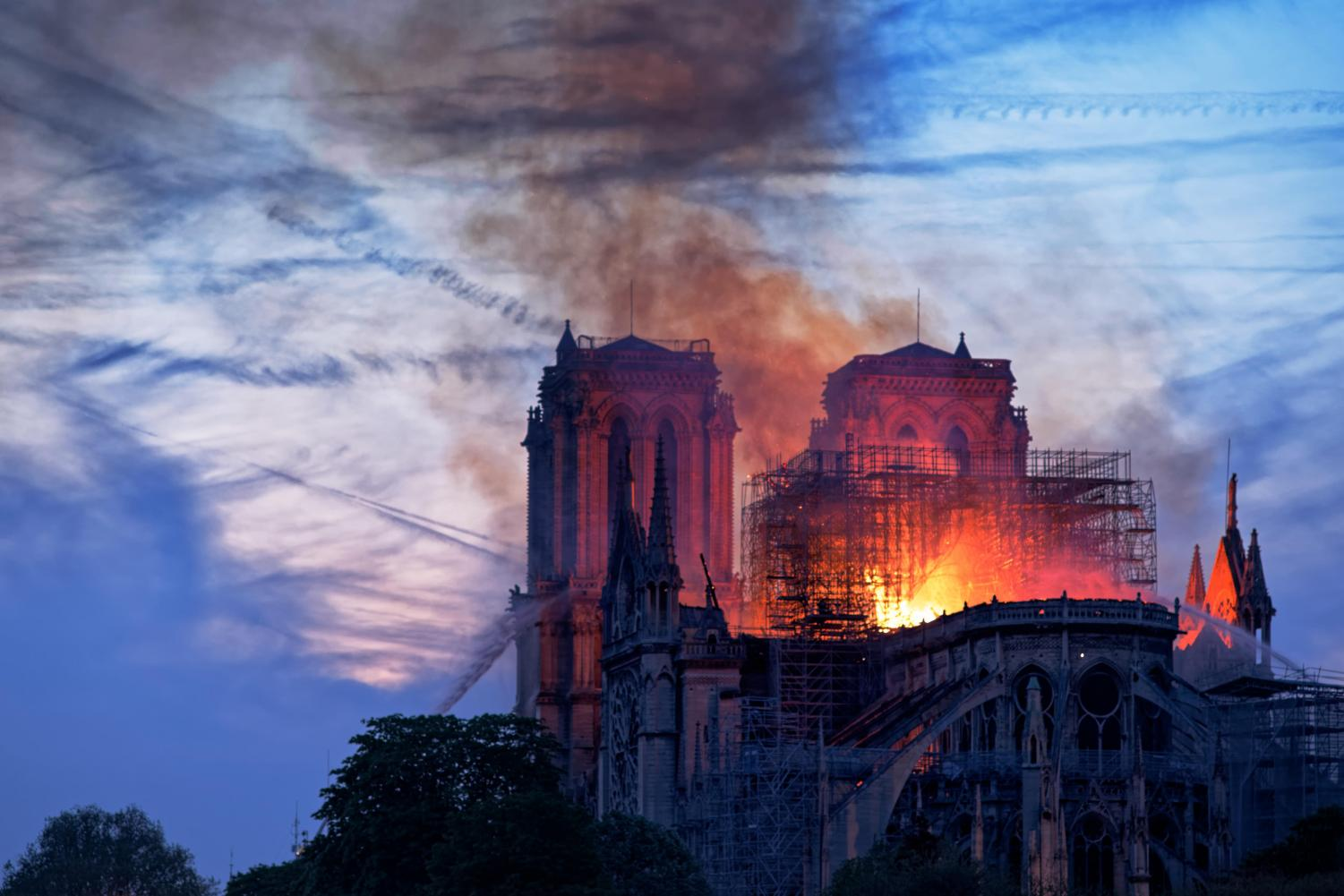Notre Dame Cathedral Burning on Mon., April 16. Creative Commons Photo: o.mabelly on Flickr.