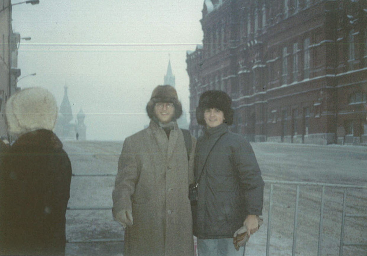 Kitt (right) studied in the Soviet Union during a time of drastic change in 1989. Kitt experienced riots and protests while in Russia, but was also met with unparalleled kindness and hospitality.