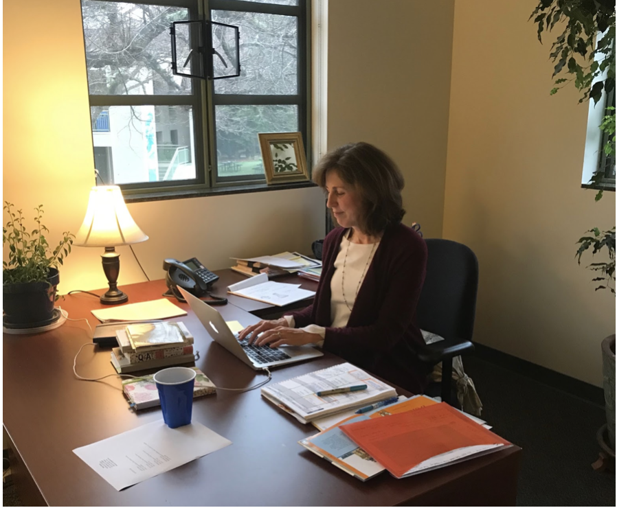 Dr. Bridgett Longust works to find the perfect teaching candidate. Staff Photo: Ella Hartmanis.