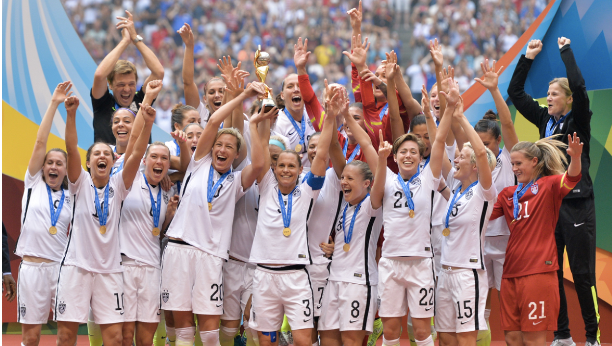 The United State's Women's National Team wins the 2015 World Cup. Creative Commons image: Elaine Thompson on Creative Commons.