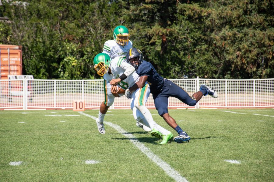 Varsity Football's First Game Finishes in a Blowout