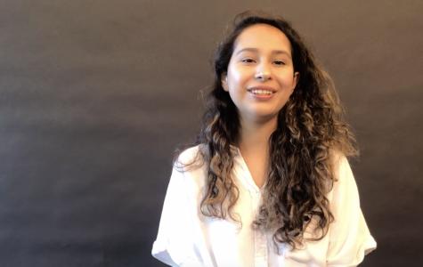 Senior Sara Noriega-Diaz discusses her ability to speak both Spanish and English. Staff Photo: Emily Han and Sophia Artandi.