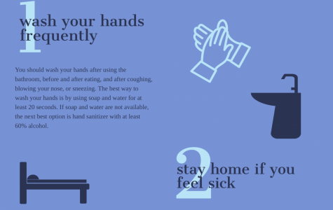 The first two tips are to wash your hands frequently and stay home when you feel sick. Staff Photo: Riley Huddleston.