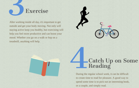 To keep yourself occupied, try exercising or reading a new book. Staff Photo: Ella Hartmanis.
