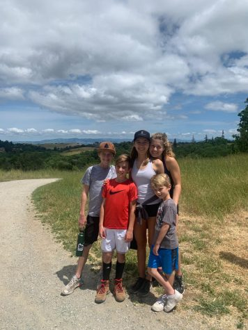 Freshman Alea Marks and her four siblings have spent a lot of time outside together and often go on hikes during shelter-in-place. Photo Courtesy of Alea Marks.