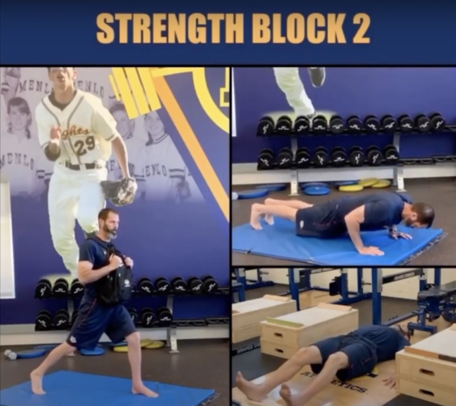 Director of Sports Performance and Wellness Jesse Lindenstein participates in the Menlo Performance workout each day. Photo courtesy of Jesse Lindenstein.