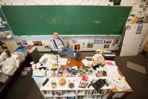 After 44 years of teaching at Menlo, Upper School math and computer science teacher Michael Thibodeaux is retiring. Photo courtesy of Pete Zivkov.
