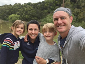 Math teacher Eve Kulbieda hikes with her family during shelter-in-places. Photo courtesy of Eve Kulbieda.