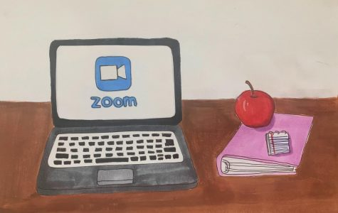 As note-taking and organization methods change with online learning, students must take more initiative in their learning. Illustration courtesy of Dorinda Xiao.