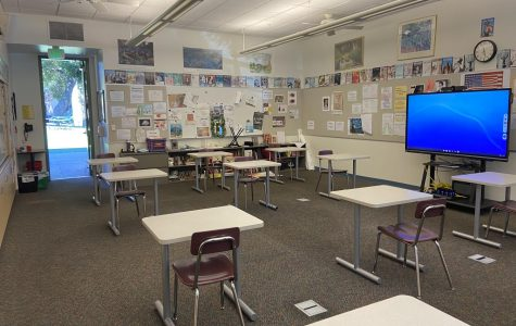 Menlo plans to reopen with a limited hybrid model starting Oct. 16. The school has equipped classrooms with new technology to enhance virtual classes, as well as reconfigured classrooms to accommodate more social distancing. Staff Photo: Alex Levitt.