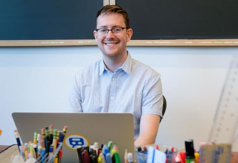 Computer science teacher and Menlo alum Matthew Redmond joined the faculty in spring of 2020. Photo courtesy Pete Zivkov.