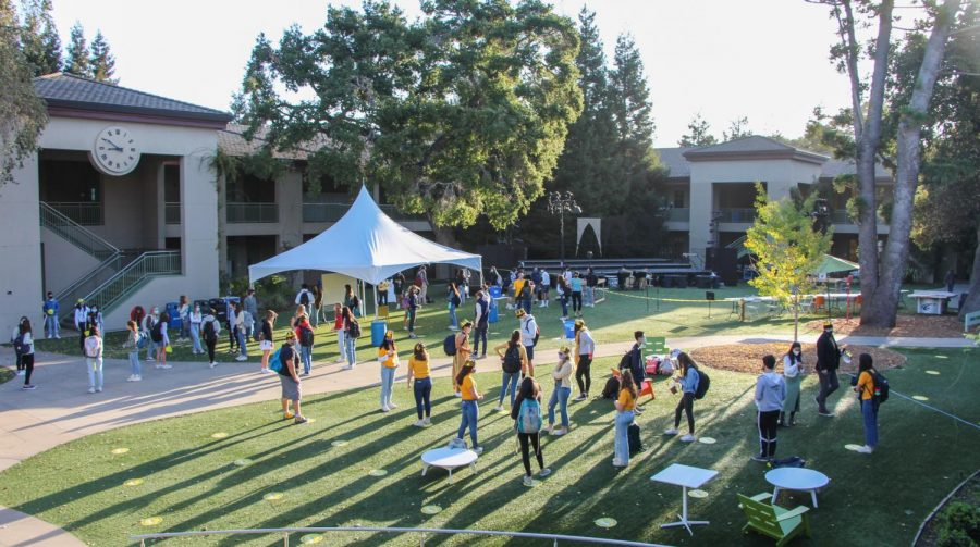 Students have not been allowed on campus for classes since Menlos coronavirus-prompted closure in March 2020. In anticipation of the Gold A cohorts return on Oct. 26, Menlo implemented many new campus and procedural changes. Staff photo: Sadie Stinson.