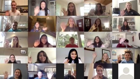 Knight Vision's first virtual meeting of this school year brought increased student participation, allowing for the start of several service-based projects. Staff photo: Emily Han.