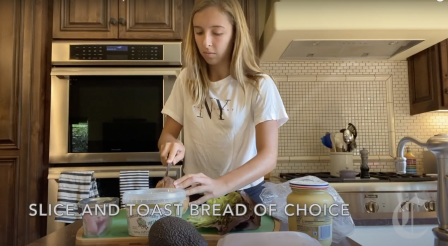 Sophomore Alea Marks makes a sandwich for lunch. Video courtesy of Alea Marks.