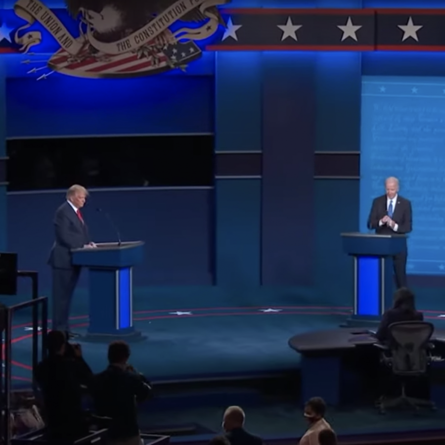 Among this week's major news stories: President Trump and Joe Biden faced off in the second presidential debate on Thursday, Oct. 22. While Thursday's debate reflected slightly more civility than did the first one on Sept. 29, both candidates still became bitter or sarcastic at many points. Screengrab: C-SPAN.
