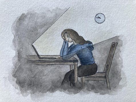 School closures during the pandemic have contributed to a rise in mental health struggles among teenagers. Illustration courtesy of Michele Hratko.
