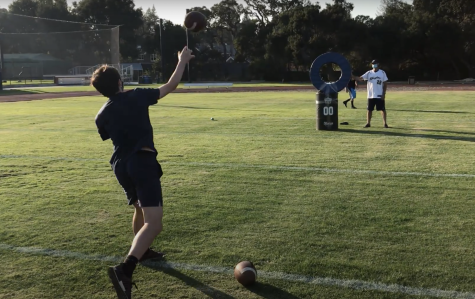 During the Knight Games on Oct. 30, students in Menlo athletics pods competed against each other in a friendly skills competition. For each sport represented at the event, every pod selected several student-athletes to participate. Staff photo: Chase Hurwitz.