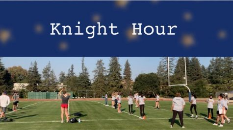 Knight Hour is a weekly broadcast by The Coat of Arms covering Menlo news and announcements. This week, hosts Valentina Ross and Lauren Lawson are featuring three CoA stories, including one about the recent Knight Games between athletics pods, as well as several announcements about upcoming events. Staff photo: Chase Hurwitz.