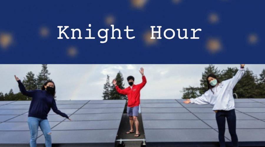 Knight Hour is a weekly broadcast by The Coat of Arms covering Menlo news and announcements. This week, hosts Valentina Ross and Lauren Lawson are featuring CoA stories about the new Tesla solar panels on campus and exchange programs during the pandemic, as well as several announcements about upcoming events. Photo courtesy of Pete Zivkov.