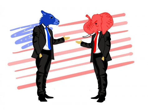 Republicans and Democrats are greatly split today. President Joe Biden has the ability to change these circumstances. Staff illustration: Sophie Fang