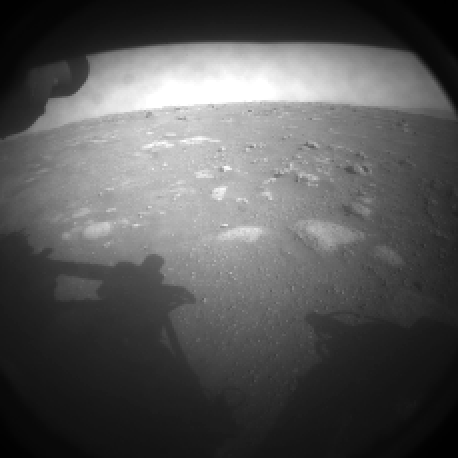 The Perseverance rover landed on Mars on Feb. 18, carrying the Ingenuity Mars Helicopter. Pictured is one of the first images that Perseverance captured after touching down on Mars. Creative Commons photo: NASA/JPL-Caltech.
