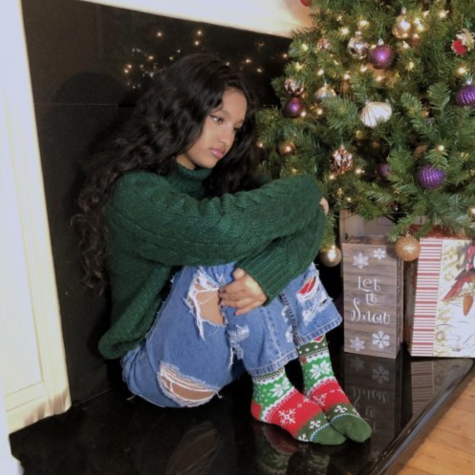"The cover for sophomore Maya Debnath's recent single, ""Christmas in Quarantine."" Debnath released the song in December 2020. Photo courtesy of Maya Debnath."