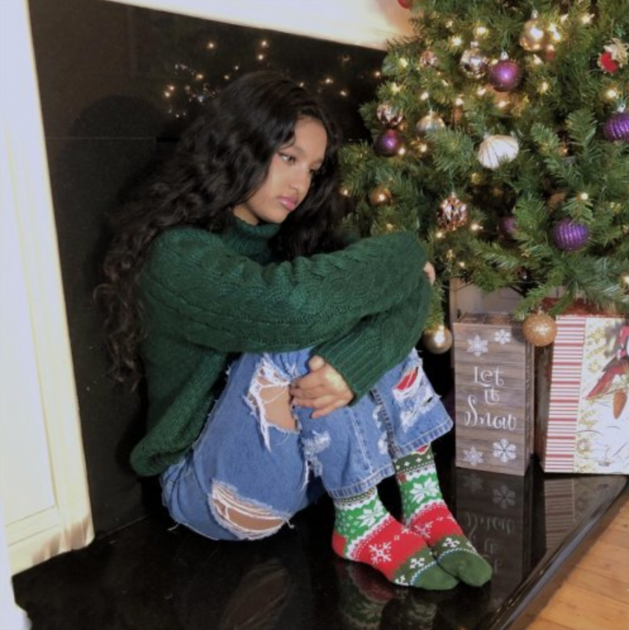 """The cover for sophomore Maya Debnath's recent single, """"Christmas in Quarantine."""" Debnath released the song in December 2020. Photo courtesy of Maya Debnath."""