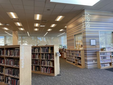 The library, usually filled with students, is now usually empty due to the pandemic. This change has greatly affected the library and its services. Staff photo: Andrea Li.