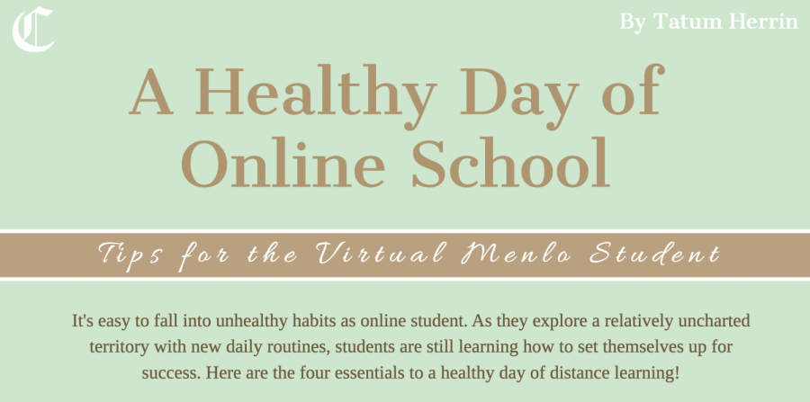 As students and educators pass the one-year mark from the transition to distance learning, virtual school continues to prove challenging for many students. Even as students start returning to campus for more frequent in-person classes, these tips on staying physically and mentally healthy at home are still useful. Staff image: Tatum Herrin.
