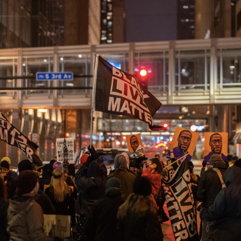 Among this weeks major news stories: Derek Chauvin is on trial for the death of George Floyd. Since the trial started, protesters have often gathered outside the Hennepin County Courthouse in Minneapolis, Minn., where the trial is taking place. Creative Commons photo: Chad Davis on Flickr.
