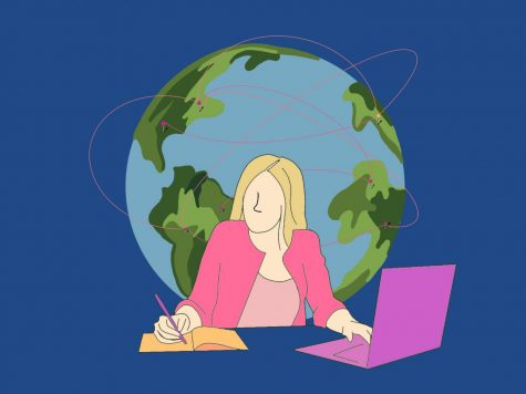 Global Online Academy offers courses for students across the globe. Staff Illustration: Sophie Fang.
