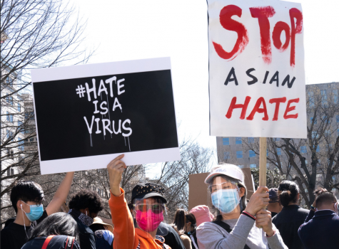 People gather in McPherson Square, D.C. to protest against anti-Asian American attacks and hate. Creative Commons photo: Victoria Pickering on Flickr.