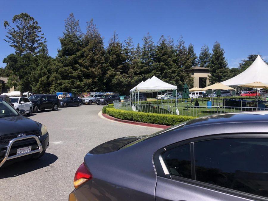 Cars+overflow+the+Menlo+loop.+Staff+Photo%3A+Erica+Fenyo.